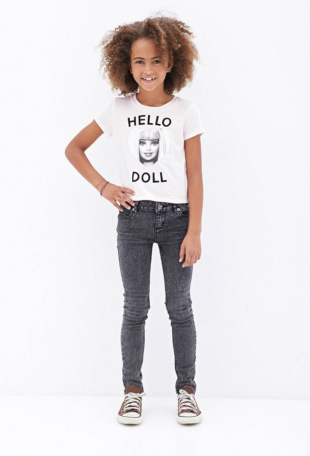 t-shirt-enfant-hello-doll-barbie-forever21