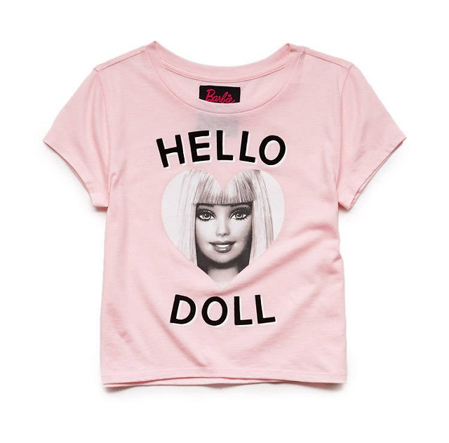 t-shirt-enfant-rose-barbie-forever21