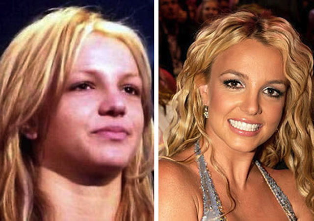 britney spears sans maquillage