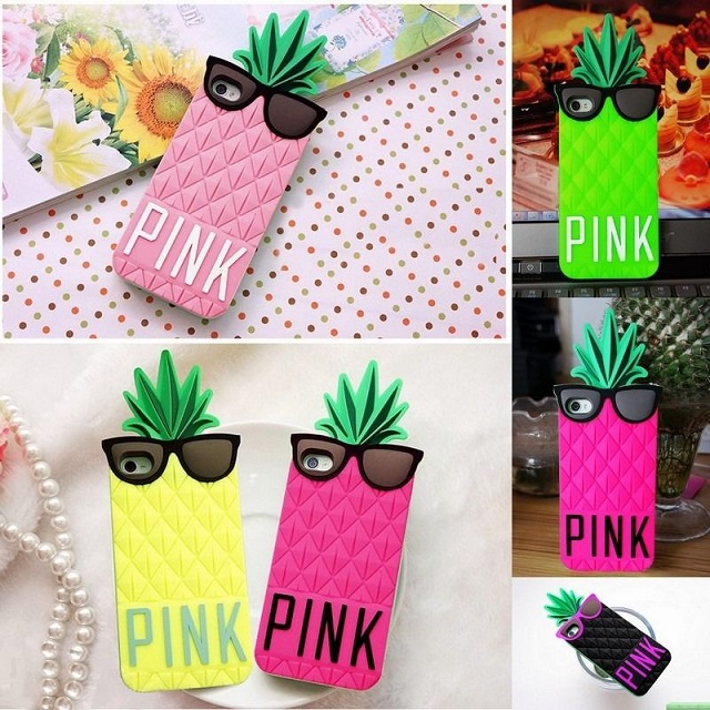 coque silicone iphone ananas