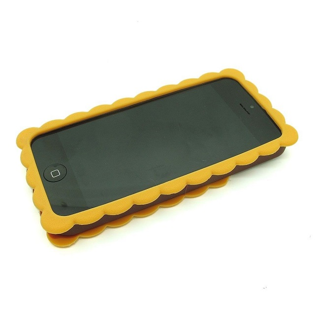 coque silicone iphone biscuit face avant