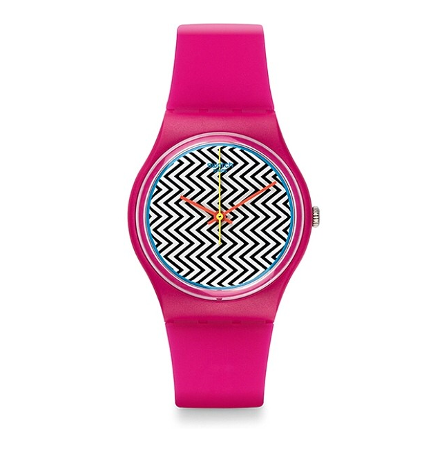 montre rose swatch