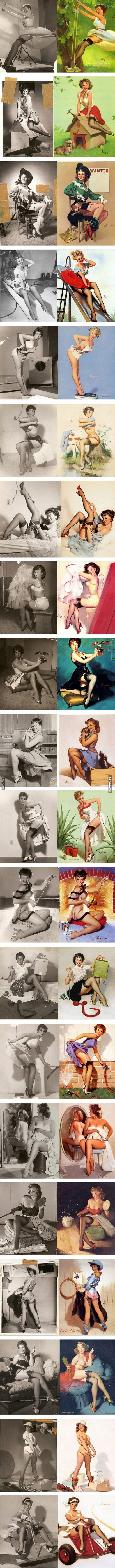pinup art before photoshop