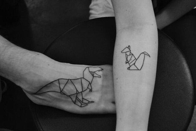 Origami Tattoos La Fille Du Quatrieme