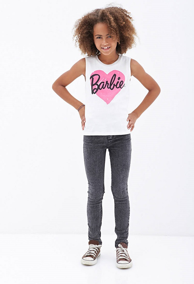 t-shirt-enfant-barbie-forever21