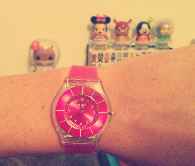 Montre Swatch pink classiness