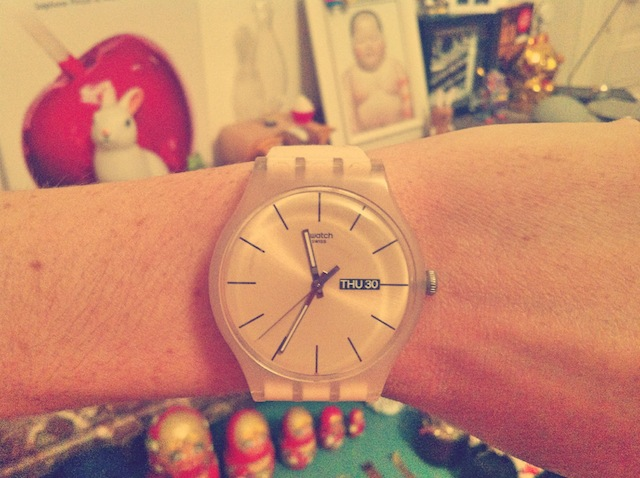 Montre Swatch rose rebelle