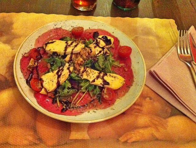 cheese's art restaurant carpaccio