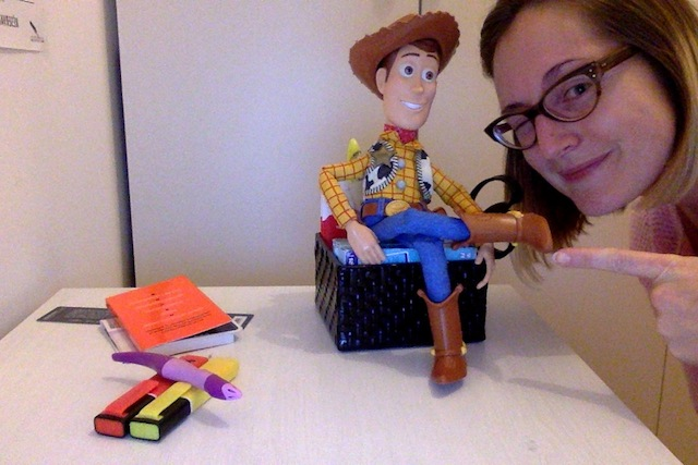 woody figurine toy story mattel