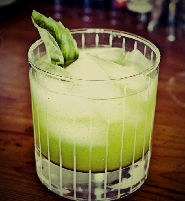 coktail gin basilic villa lorraine