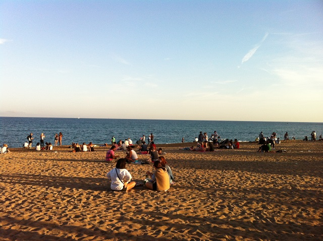 plage barcelone 2014