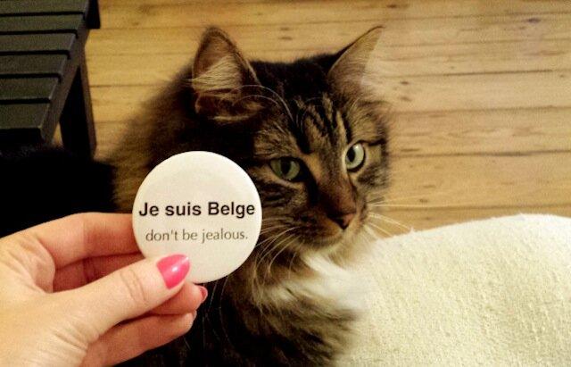 belgikïe - badge belge une fois