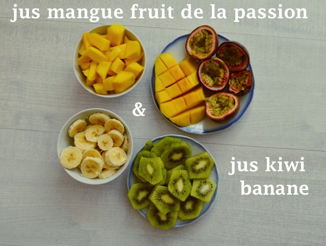recette de jus frais aux fruits