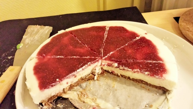 Cheesecake framboise speculoos sans cuisson