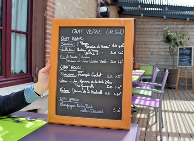 carte vins - restaurant le chat à villechaud