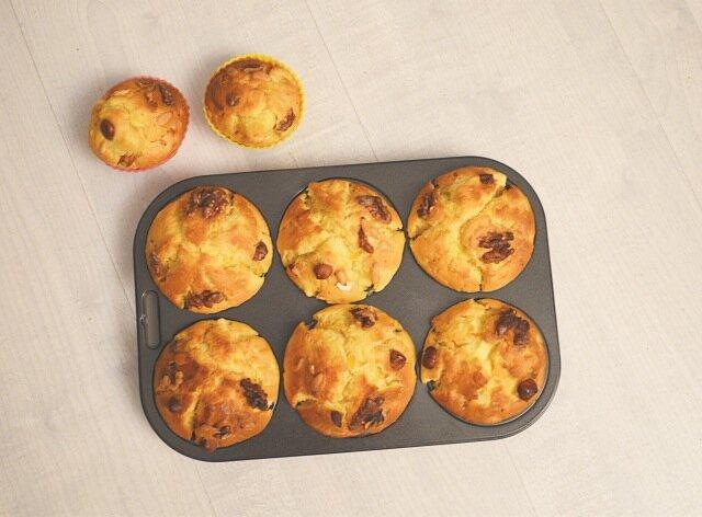 Muffins potirons, pommes & noix-recette