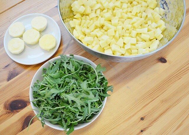 Stoemp-roquette-tomates-sechees-boulettes-italiennes-3